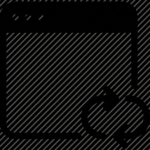 application, arrow, mobile, refresh, reload, web icon