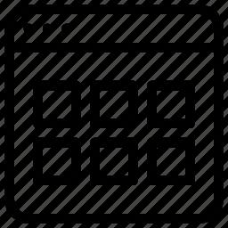 application, magnifying, medium, view, windows icon