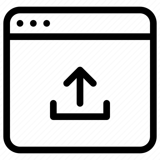 application, arrow, storage, upload, windows icon