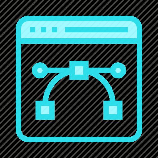 bezier, design, internet, online, webpage icon