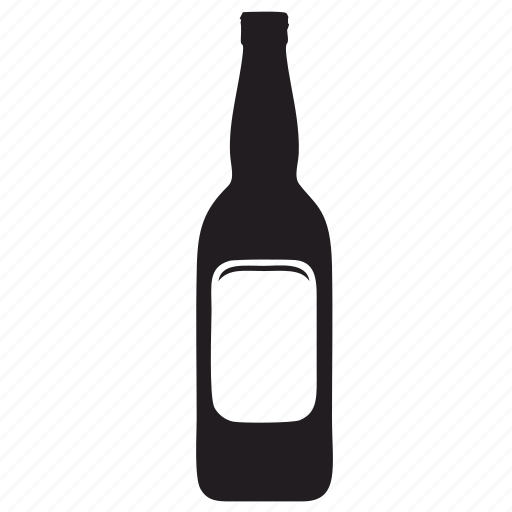 beer, bottle, drink, label, wine icon