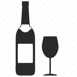 alcohol, bocal, bottle, restaurant, wine icon