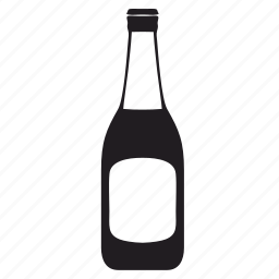 alcohol, beer, bottle, label icon