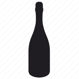 bottle, shampagne icon
