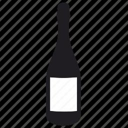 alcohol, bottle, label, shampagne icon