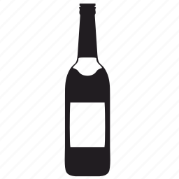 alcohol, bottle, label, wine icon