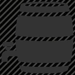 barrel, oak barrel, storage, wine, wine barrel, winemaking icon
