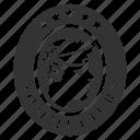 badge, label, sommelier, sommelier badge, sommelier certificate icon