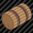 barrel, cartoon, isometric, retro, vintage, wine, wood