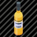 bottle, cartoon, food, fruit, isometric, sauvignon, wine