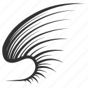 bird, brush, feather, line, wing
