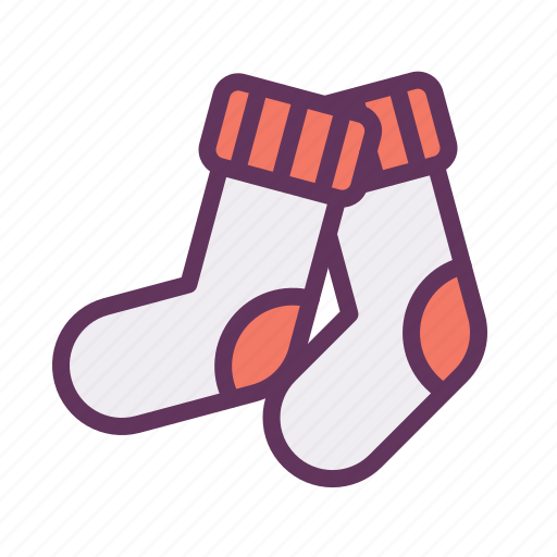 christmas, foot, pack, socks, wear, winter icon