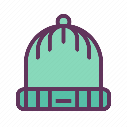 cap, hat, head, protect, snow, winter, woolen icon