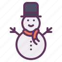 christmas, cold, decoration, snow, snowman, winter icon