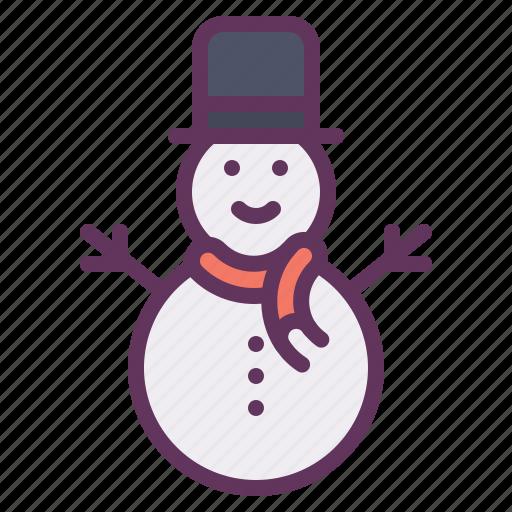 christmas, cold, decoration, snow, snowman, winter icon