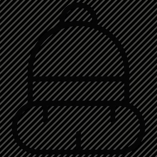 beanie, hat, winter icon