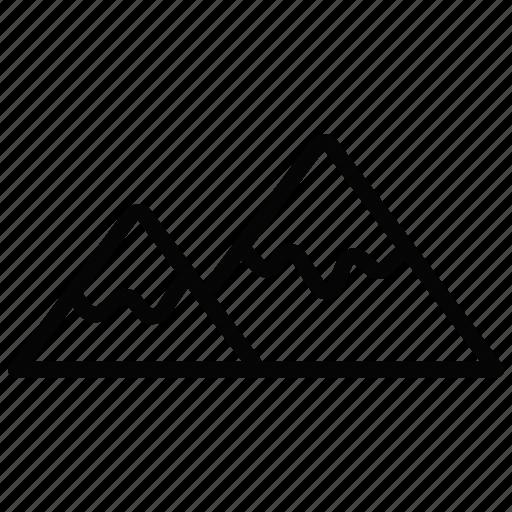mountain, snow, winter icon