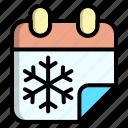 calendar, cold, season, winter icon