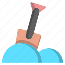 ice, shovel, snow, snow shovel, snow spade, spade, winter icon