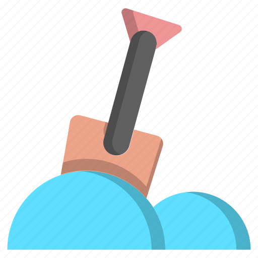 ice, shovel, snow, snow shovel, snow spade, spade, winter icon