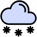 cloud, cold, snow, snowflakes, weather, winter icon