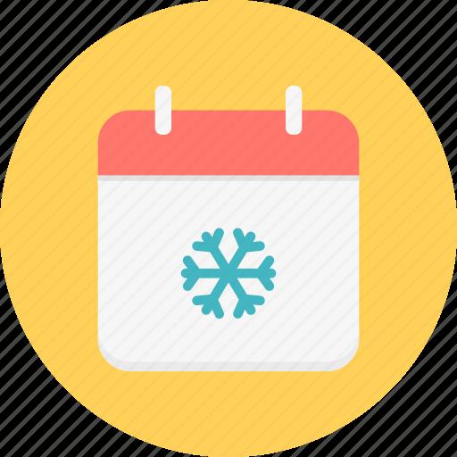 calendar, christmas, december, new year, season, snow, winter icon