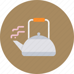 drink, hot, kettle, pot, tea, utensil, winter icon
