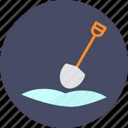 dig, farming, gardening, mud, shovel, snow, tool icon