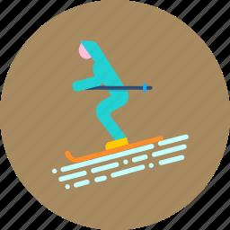 game, recreation, ski, skiing, sports, vacation, winter icon