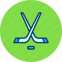 game, hockey, ice, puck, sports, stick, winter icon