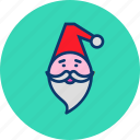 beard, cap, christmas, claus, gift, new year, santa icon