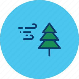 breeze, christmas, cold, snow, storm, tree, winter icon