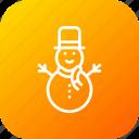 christmas, cold, decoration, snow, snowman, winter