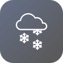 christmas, cloud, rain, snow, snowflake, winter icon