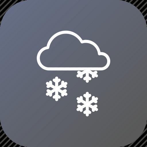 christmas, cloud, rain, snow, snowflake, winter icon