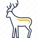 animal, deer, forest, winter icon
