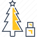 fir, gifts, new, tree, winter, year icon