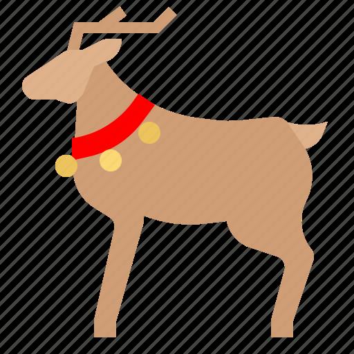 animal, deer, elk, mammal, reindeer, wild icon