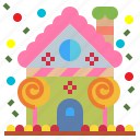 candy, christmas, decoration, festive, gingerbread, holidays, house