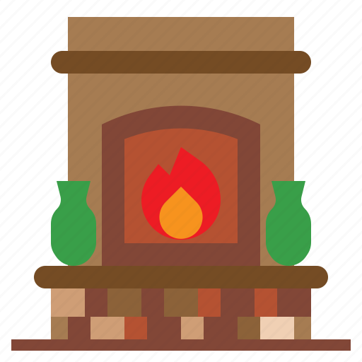 chimneycozy, fire, fireplace, household, interior icon