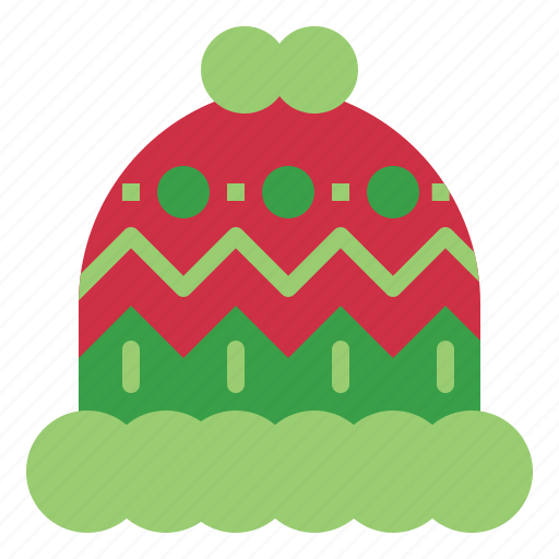 christmas, clothing, cold, hat, winter, wool icon