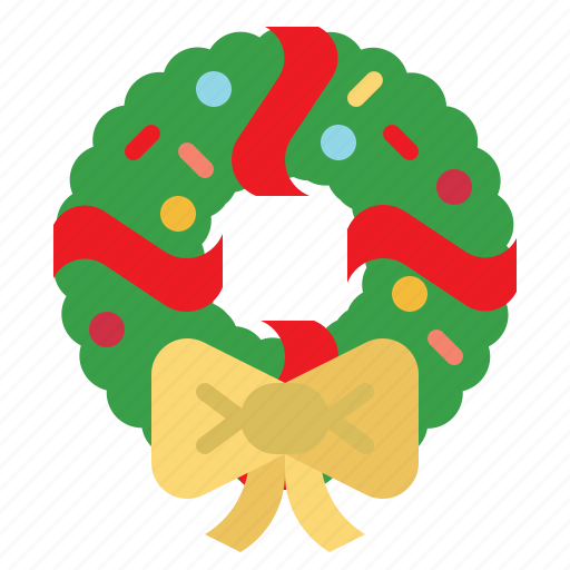 Christmas, decoration, element, garland, holly, wreath icon - Download on Iconfinder