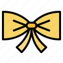 bow, bowtie, hair, ribbon, suit icon