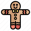christmas, cookie, gingerbreadman, merry, xmas icon