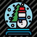 christmas, globe, holiday, snow, snowglobe