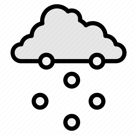 clouds, falling, snow, snowing, weather, winter icon