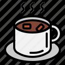 cocoa, coffee, mug, steam, tea
