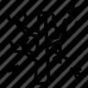 autmun, branch, plant, snow, tree, winter icon