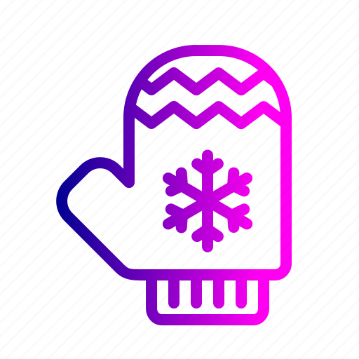 gloves, hand, protection, snow, snowflake, winter icon