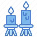 candle, decoration, illumination, light icon